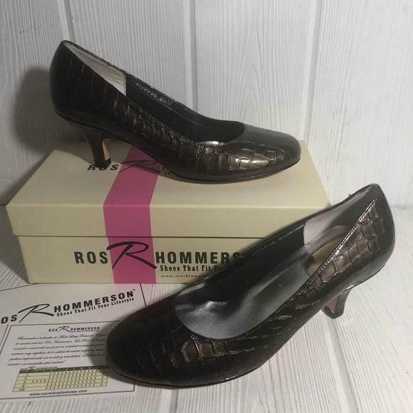 Ros Hammerson Pumps Grey Bronze Croc